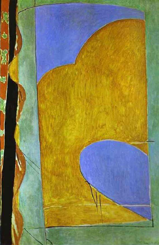 Composition The Yellow Curtain 1914 By Henri Matisse