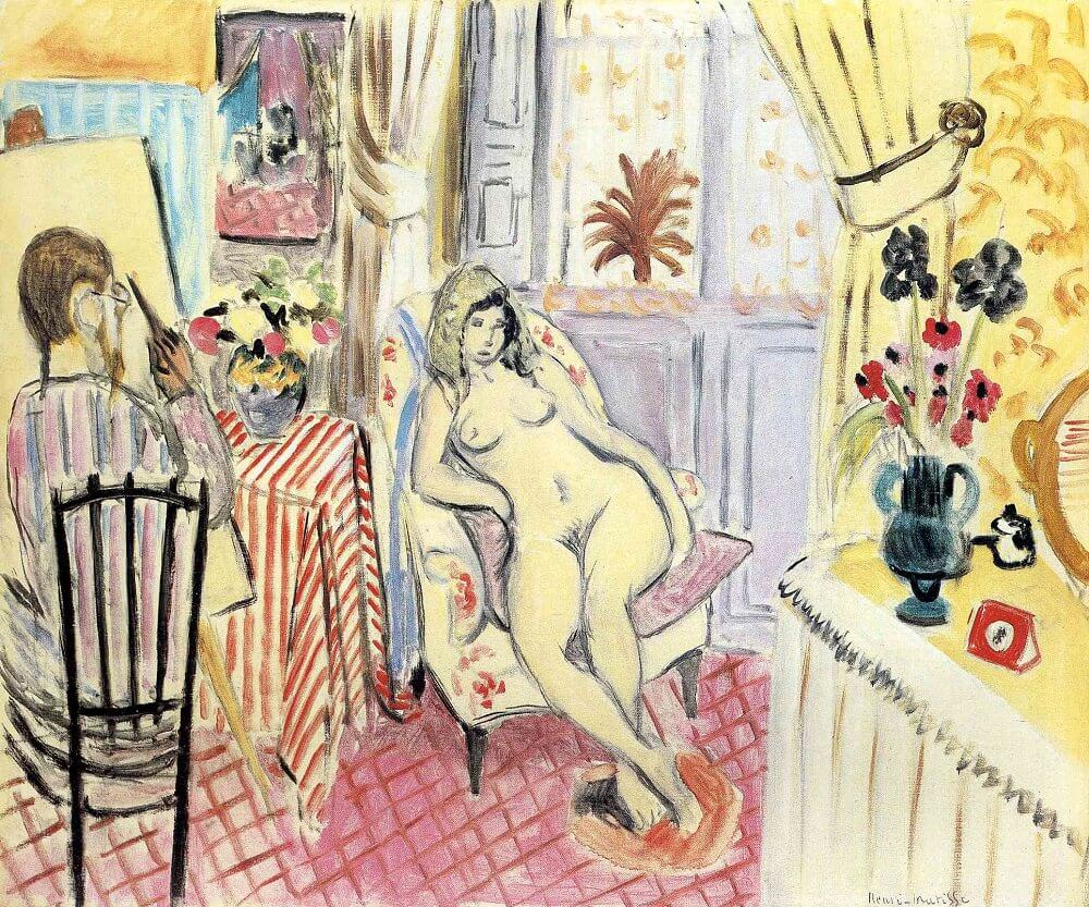 The Artist and His Model, 1919 by Henri Matisse
