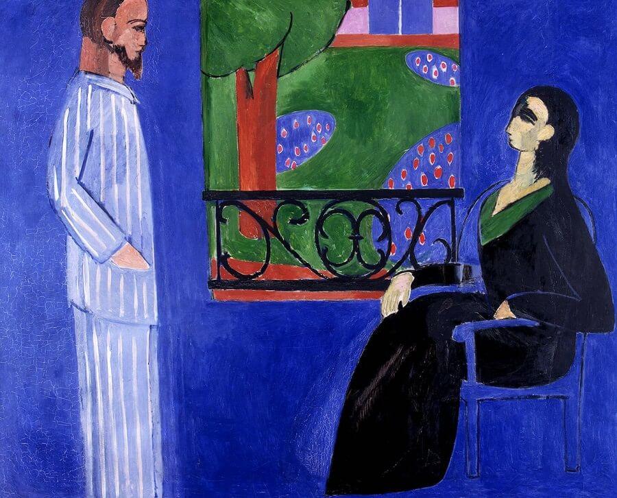 The conversation 1908 1912 by henri matisse for Le violoniste a la fenetre henri matisse