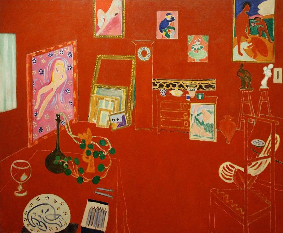 harmony in red henri matisse Harmony in red is a masterpiece created by france-based artist henri matisse in 1908 which thought to be matisse's representative masterpiece by some critics this painting went through three stages, first it was painted green, then it was ordered blue, but it was finally painted over with matisse's preferred red.