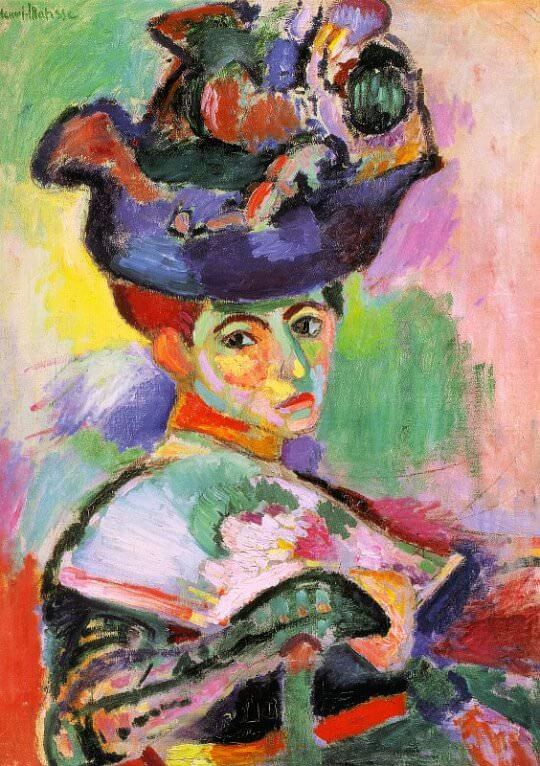 woman with a hat femme au chapeau 1905 by henri matisse